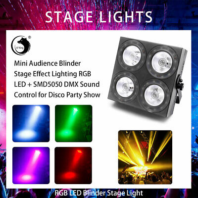 150W RGB 4 LEDs Audience Light Stage Lighting+ SMD Ring DMX DJ Show Disco Lamp
