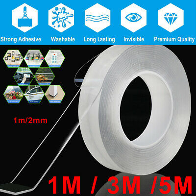 Clear PU GEL Nano Magic Double-Sided Tape Traceless Removable Adhesive Washable