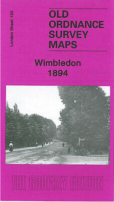 Old Ordnance Survey Maps Wimbledon 1894