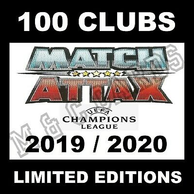 MATCH ATTAX 2019/20 19/20 100 Club / Limited Edition Gold Silver Bronze cards