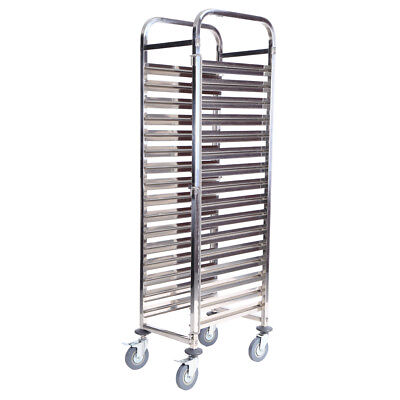 16 Levels Gastronorm cooling racking Bakery Trolley Cart Cake Hotel Shelving