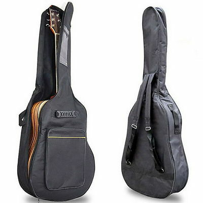 Acoustic Guitar Double Straps Padded Guitar Soft Case Gig Bag Backpack jh