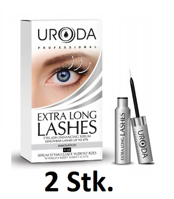 2 Stk.URODA LASHES  Wimpernserum Wimpernwachstumsserum 4ml  (100ml /330,63 €)