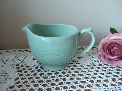 Vintage Woods Ware Beryl Green Cream Jug Small Retro Utility