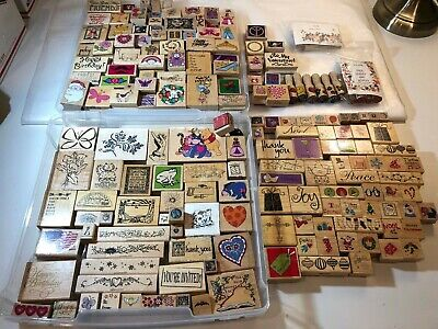 HUGE Collection of 186 Wood Mount Rubber Stamps- All Occasions