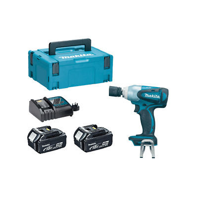 Makita DTW251RMJ 18v 1/2 Impact Wrench 2 x BL1840 Batts Charger In Makpac Case