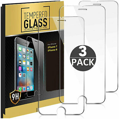 3× Panzerfolie iPhone 7 Plus iPhone 8 Plus 9H Hartglas Displayschutz Folie