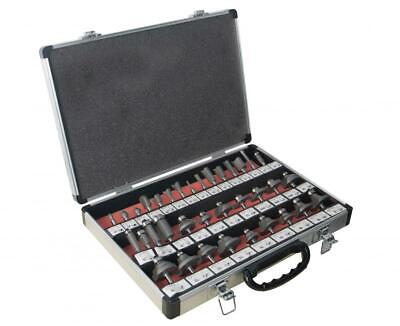 """ToolTronix 35pc Router Bits Set TCT Tungsten Carbide Tipped 6.35mm 1/4"""" Shank"""