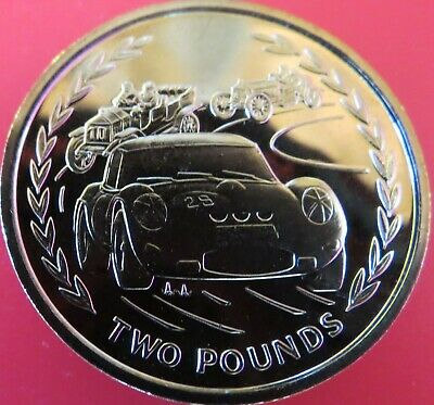1996 *Unc* Isle Of Man £2 Two Pound Racing Cars Uncirculated Coin