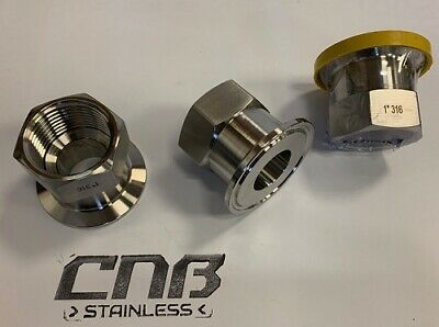BSP to Ferule Tri Clamp Adaptor Stainless 316L BSPP Female Tri Clover Flange