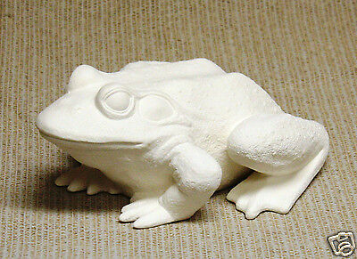 Ceramic Bisque 10 Inch Garden Frog Scioto Mold 1497 U Paint Ready To Paint