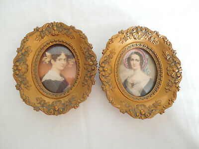 Cameo creations Maximiliane Borzaga & Mrs Richard Knight mini portraits