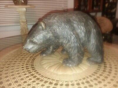 Excellent Wood Hand Carved Bear! Signed by artist!