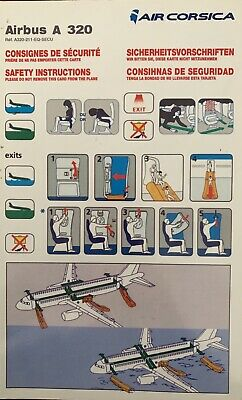 AIR CORSICA  Safety Card AIRBUS A 320 Safety Card , Good Condition