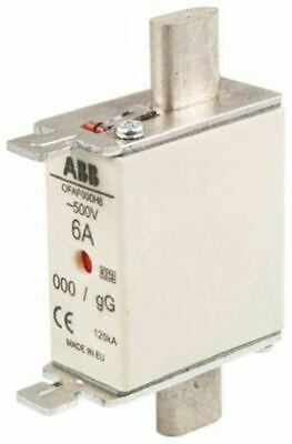 ABB 6A 0 HRC Centred Tag Fuse, gG, 500V 1SCA022627R0400