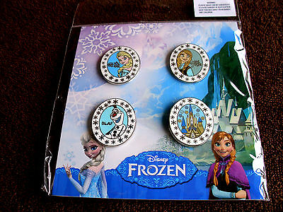 Disney * FROZEN - ELSA - ANNA - OLAF - CASTLE * 4 Pin Booster Set * New In Pack