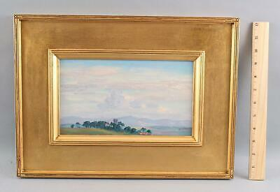 Small Antique WILL HUTCHINS American Impressionist Landscape Oil Painting, NR