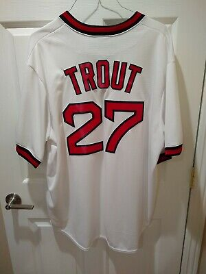 low priced db383 5c5a7 MIKE TROUT LA Angels Majestic Throwback XXL Jersey - Vintage California  Angels