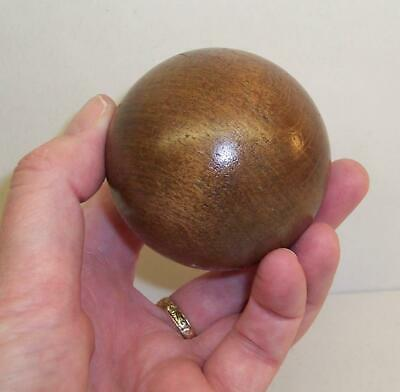 LOVELY Vintage/Antique BALL Made From Solid OAK Wood - Tactile Piece - TREEN