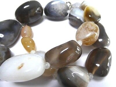 Chain Gemstone Agate Nuggets Length Approx. 51 CM
