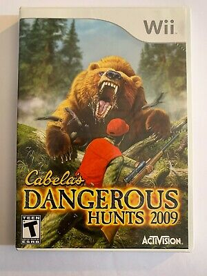 Cabelas Dangerous Hunts 2009 - Wii - Missing Manual - Free S/H - (B51A)