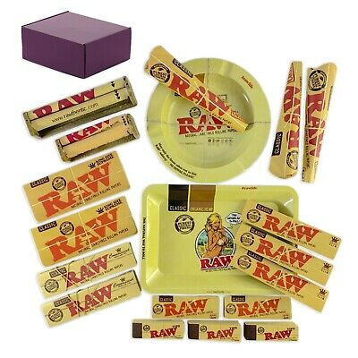 RAW Rolling Paper Machine Trays Pre Rolled Cones Bundle With 19 Items