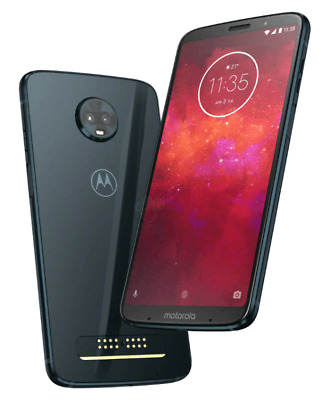 Moto z3 Play Motorola 64GB GSM/CDMA Unlocked Deep Indigo (W/ Powerpack Mod) New