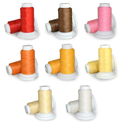 Waxed Thread 0.8mm 50m Polyester Cord Sewing Machine Stitching For Leather Cr DD