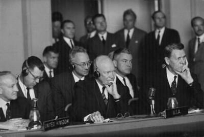 Photograph of Dwight D. Eisenhower during a conference