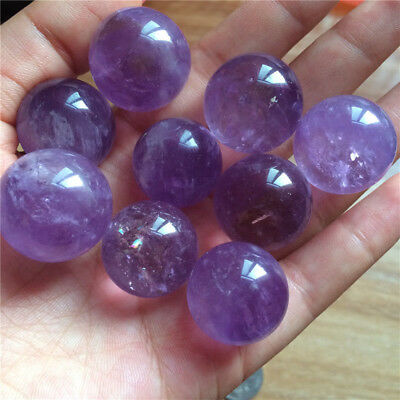 Hot Natural Amethyst Quartz Stone Sphere Crystal Fluorite Ball Healing Gemstone