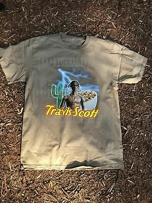 travis scott merch tour supreme rare t-shirt 2019 cereal astroworld puffs buju