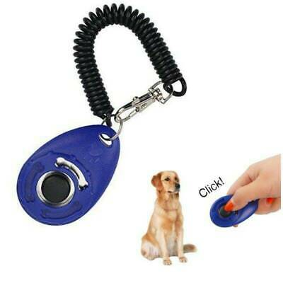 DOG TRAINING Pet Blue Training Clicker Click Teaching Tool Dogs Puppy Obedience
