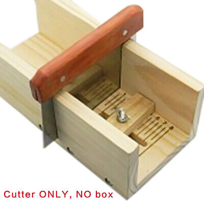 Straight Soap Cutter Stainless Wax Dough Wooden Handle Soap Cutter Making New