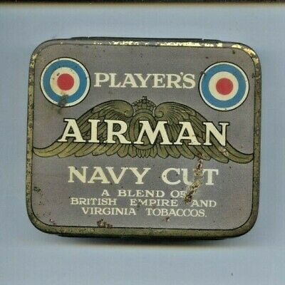 Players Airman Navy Cut Tobacco Tin