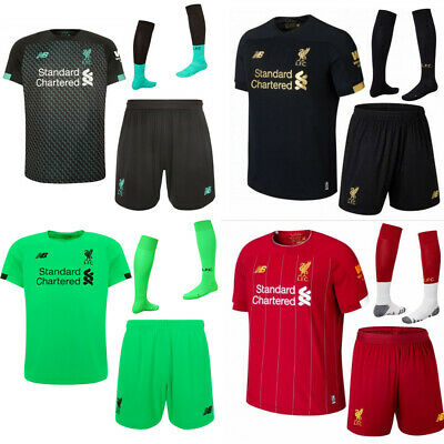 19/20 Liverpool Football Kits Soccer Jersey Strip Suits For Kids Adult Outfits