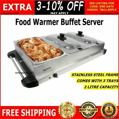 Buffet Server Party Food Wamer Bain Marie Electric Serving Warming Table Tray
