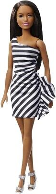 Black Barbie 60th Anniversary Doll - Barbie (Zebra Dress) Brand New