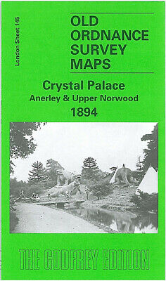Old Ordnance Survey Maps Crystal Palace & Upper Norwood 1894