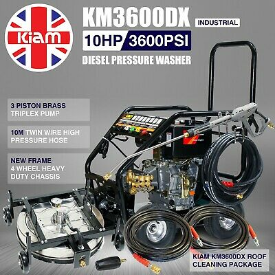 Diesel Washer Pressure Cleaner Roof Cleaning Rotary Pack Kiam KM3600DX