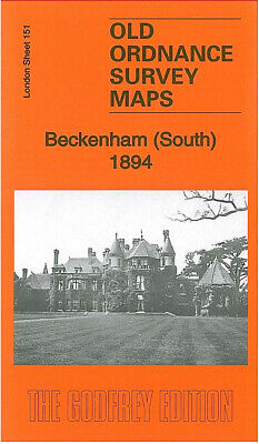 Old Ordnance Survey Maps Beckenham South 1894