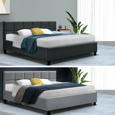 【20%OFF$119+】King Single Double Queen Size Bed Frame Base Platform Fabric Wooden