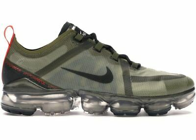 New Nike Air VaporMax 2019 in Olive Flak/Black-Medium Olive Colour Size 11