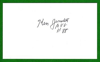 Ken Jernstedt DECEASED WW2 Fighter Pilot Ace-10V Flying Tiger Signed Card E19551