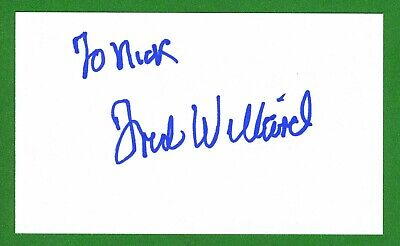 Fred Willard Actor 'Everybody Loves Raymond' Signed 3x5 Index Card T2822