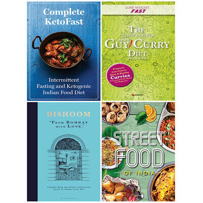 Dishoom, Complete KetoFast, Lose Weight Fast, Fresh & Easy Indian 4 Books Set