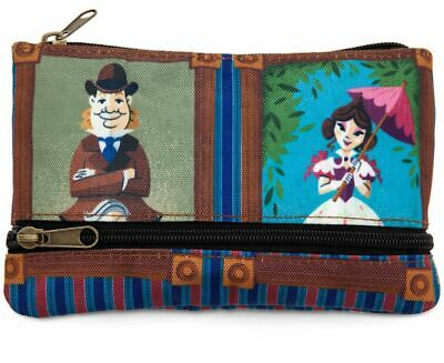 Disney Parks Haunted Mansion Stretch Room Portaits Zipper Pouch Bag Clutch NWT