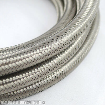 1 metre STAINLESS STEEL BRAIDED FUEL HOSE LINE AND OIL LINE -12 AN12 12AN (17mm)
