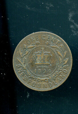 1894 Newfoundland Victoria Large Cent F  DSP340