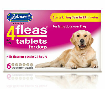 Johnson's 4fleas tablets for large dogs (6 Treatment Pack)