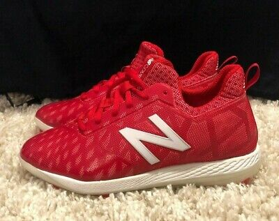 New Balance COMPTR1 Men's COMPv1 Low-Cut TPU Cleats Red/White Baseball Shoes